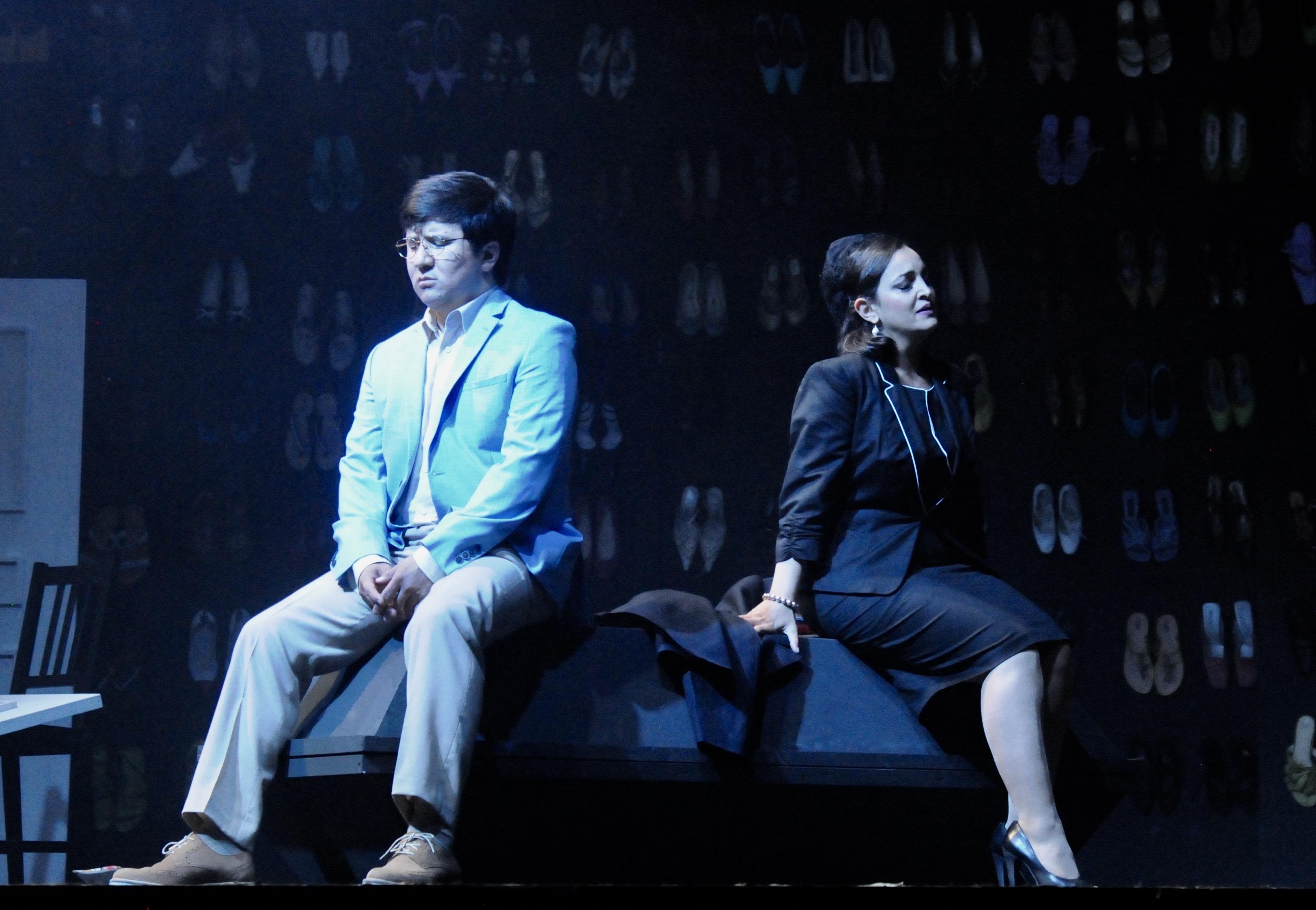 Jenish Ysmanov (Don Ottavio) und Lussine Levoni (Donna Anna) (Foto Verena von Kerssenbrock)